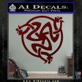 Celtic Knot Snake DS Decal Sticker Dark Red Vinyl 120x120