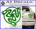 Celtic Knot Snake DS Decal Sticker Green Vinyl 120x97