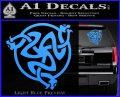 Celtic Knot Snake DS Decal Sticker Light Blue Vinyl 120x97