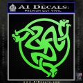 Celtic Knot Snake DS Decal Sticker Lime Green Vinyl 120x120