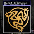 Celtic Knot Snake DS Decal Sticker Metallic Gold Vinyl 120x120
