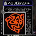 Celtic Knot Snake DS Decal Sticker Orange Vinyl Emblem 120x120