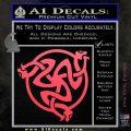 Celtic Knot Snake DS Decal Sticker Pink Vinyl Emblem 120x120