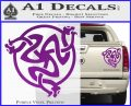 Celtic Knot Snake DS Decal Sticker Purple Vinyl 120x97