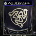 Celtic Knot Snake DS Decal Sticker Silver Vinyl 120x120