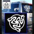 Celtic Knot Snake DS Decal Sticker White Emblem 120x120