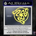 Celtic Knot Snake DS Decal Sticker Yelllow Vinyl 120x120