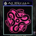Celtic Knot Snake Decal Sticker DH Hot Pink Vinyl 120x120