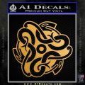 Celtic Knot Snake Decal Sticker DH Metallic Gold Vinyl 120x120