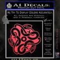 Celtic Knot Snake Decal Sticker DH Pink Vinyl Emblem 120x120