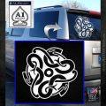 Celtic Knot Snake Decal Sticker DH White Emblem 120x120