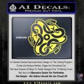 Celtic Knot Snake Decal Sticker DH Yelllow Vinyl 120x120