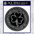 Celtic Shamrock Decal Sticker Black Logo Emblem 120x120