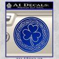 Celtic Shamrock Decal Sticker Blue Vinyl 120x120
