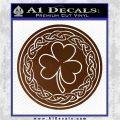 Celtic Shamrock Decal Sticker Brown Vinyl 120x120