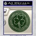 Celtic Shamrock Decal Sticker Dark Green Vinyl 120x120