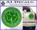 Celtic Shamrock Decal Sticker Green Vinyl 120x97