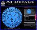 Celtic Shamrock Decal Sticker Light Blue Vinyl 120x97