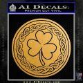 Celtic Shamrock Decal Sticker Metallic Gold Vinyl Vinyl 120x120