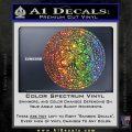 Celtic Shamrock Decal Sticker Sparkle Glitter Vinyl 120x120