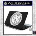 Celtic Shamrock Decal Sticker White Vinyl Laptop 120x120