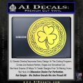 Celtic Shamrock Decal Sticker Yelllow Vinyl 120x120