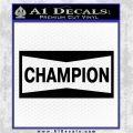 Champion Decal Sticker VZL Black Logo Emblem 120x120
