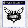 Charlotte Hornets Decal Sticker DF Black Logo Emblem 120x120