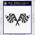 Checkered Racing Flag D1 Decal Sticker Black Logo Emblem 120x120
