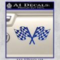 Checkered Racing Flag D1 Decal Sticker Blue Vinyl 120x120