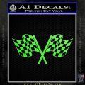 Checkered Racing Flag D1 Decal Sticker Lime Green Vinyl 120x120