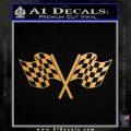 Checkered Racing Flag D1 Decal Sticker Metallic Gold Vinyl 120x120