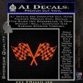 Checkered Racing Flag D1 Decal Sticker Orange Vinyl Emblem 120x120