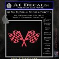 Checkered Racing Flag D1 Decal Sticker Pink Vinyl Emblem 120x120