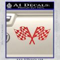 Checkered Racing Flag D1 Decal Sticker Red Vinyl 120x120