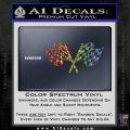 Checkered Racing Flag D1 Decal Sticker Sparkle Glitter Vinyl 120x120