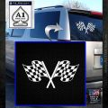 Checkered Racing Flag D1 Decal Sticker White Emblem 120x120