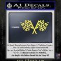 Checkered Racing Flag D1 Decal Sticker Yelllow Vinyl 120x120