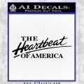 Chevy The Heartbeat Of America 2 Decal Sticker VZL Black Logo Emblem 120x120