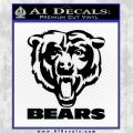 Chicago Bears Stacked Decal Sticker Black Logo Emblem 120x120