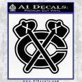 Chicago Blackhawks Decal Sticker NI Black Logo Emblem 120x120