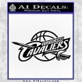 Cleveland Cavaliers Decal Sticker Full Black Logo Emblem 120x120