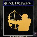 Compound Bow Hunter Decal Sticker Gold Vinyl 120x120