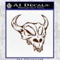 Cow Skull Decal Sticker BROWN Vinyl 120x120