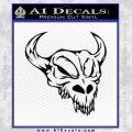 Cow Skull Decal Sticker Black Vinyl 120x120