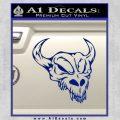 Cow Skull Decal Sticker Blue Vinyl 120x120