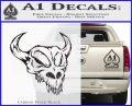 Cow Skull Decal Sticker Carbon FIber Black Vinyl 120x97