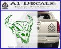 Cow Skull Decal Sticker Green Vinyl Logo 120x97