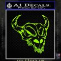 Cow Skull Decal Sticker Lime Green Vinyl 120x120