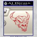 Cow Skull Decal Sticker Red 120x120